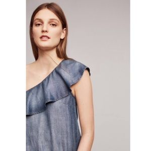 Cloth and Stone One Shoulder Ruffle Dress